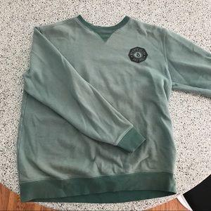 Green Long Sleeve Crew Neck